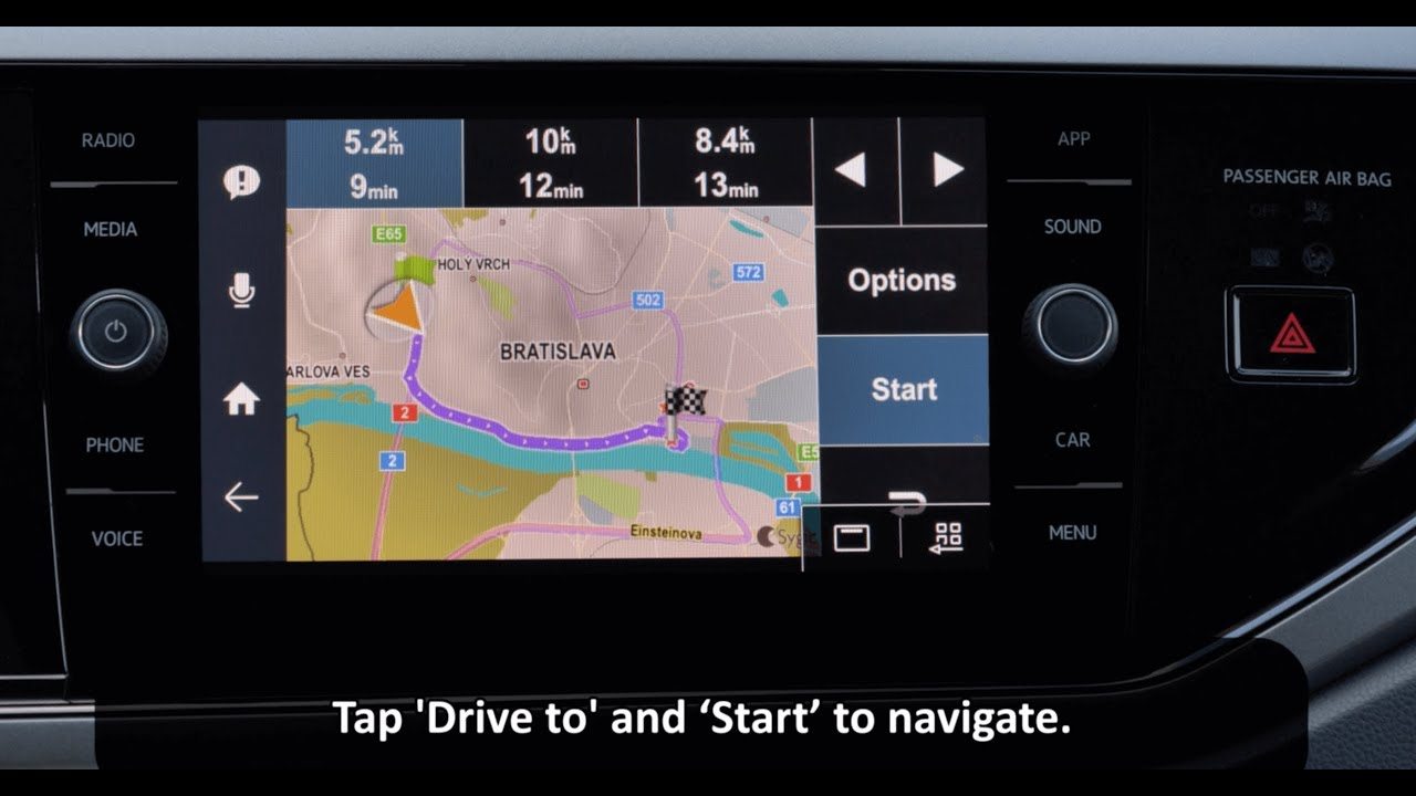 How To Drive with Sygic Car Navigation with MirrorLink Infotainment System