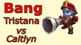 LOL Pro - SKT T1 Bang Tristana vs Caitlyn - Korea SoloQ(Full game)