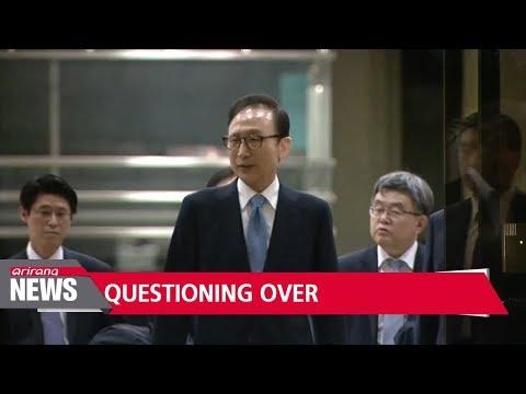 Prosecutors wrap up interrogation of fmr. president Lee Myung-bak