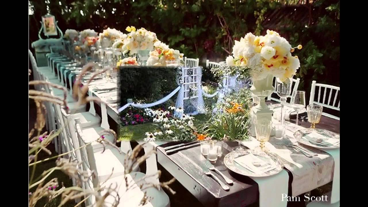 elegant small garden wedding decor ideas youtube. Black Bedroom Furniture Sets. Home Design Ideas