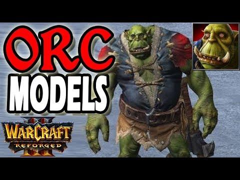 Warcraft 3 Reforged Orc Unit Models Youtube
