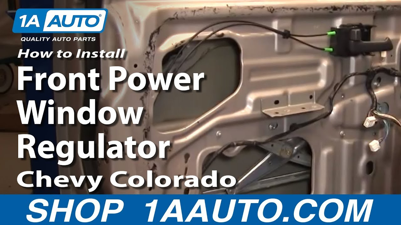 How To Replace Window Regulator 04 12 Chevy Colorado