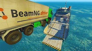 Epic High Speed Car Jumps BeamNG.drive