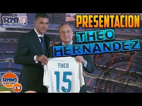 Presentación de Theo Hernández nuevo jugador del Real Madrid (10/07/2017)
