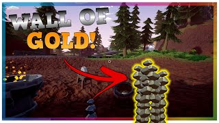 Making A WALL Of Gold In Hydroneer! New Gold Mining Game!