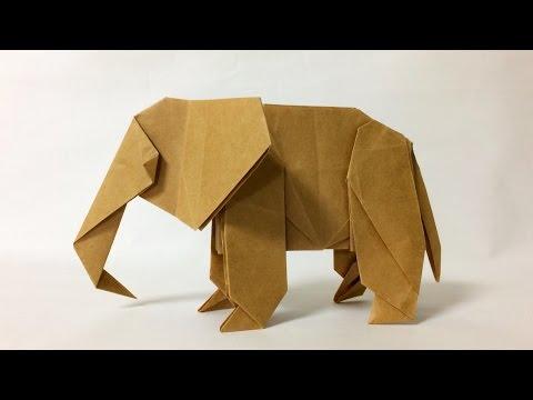 【折り紙】 ゾウを折ってみた 【折り紙】