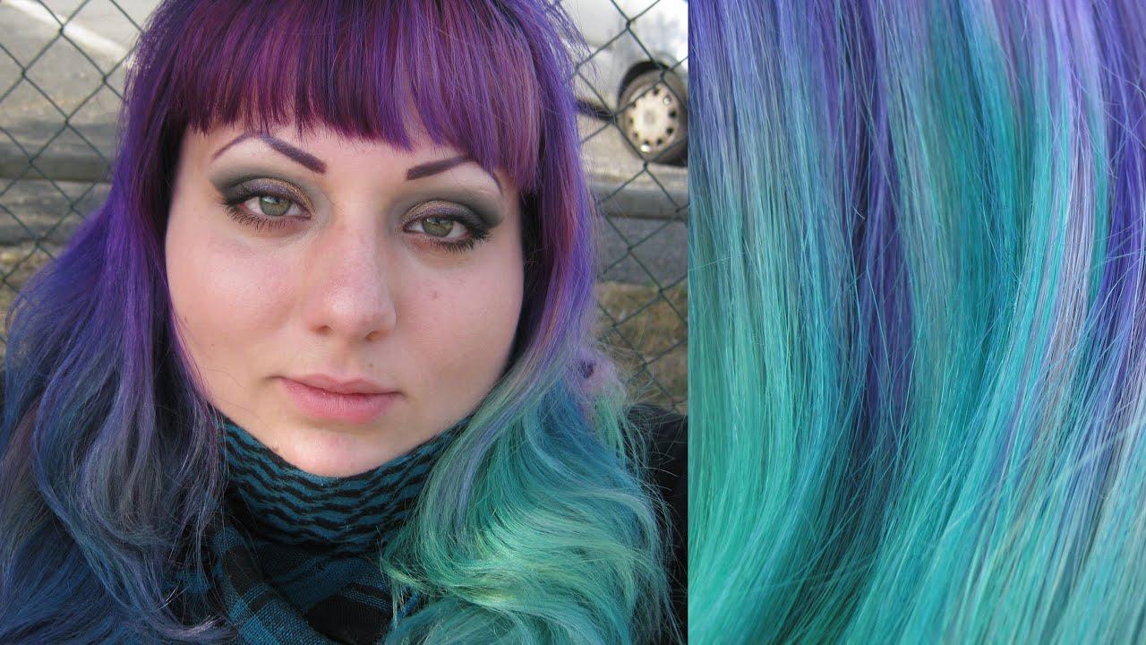 Ben noto Ombrè Hair Update - Capelli viola e verdi! :-) - YouTube ZU01