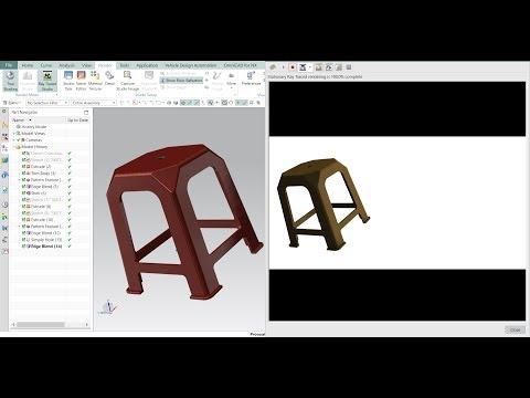 Sitting Stool CAD design in NX siemens 10