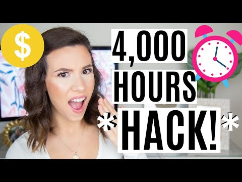 Get 4,000 Hours of Watch Time FAST (Step By Step HACK!)   YOUTUBE GROWTH TIPS 2020