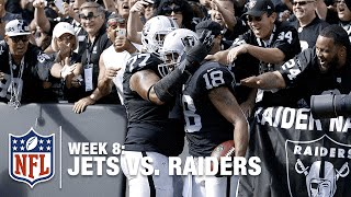 Derek Carr Connects with Andre Holmes for a 49-yard TD! | Jets vs. Raiders | NFL