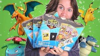 3 Pokemon Mega Mystery Power Boxes, 1 Video