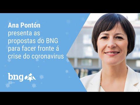 Ana Pontón presenta as propostas do BNG para facer fronte á crise do coronavirus