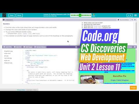 Styling With CSS - Lesson 11.6 - Web Development Code.org CS Discoveries