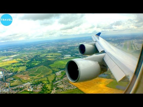ENGINE VIEW | United 747-400 Beautiful Takeoff from Busy London Heathrow!