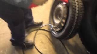 Reifen aufpumpen mal Anders