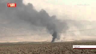 Пожар на трубопроводе в Турции