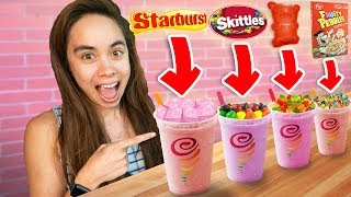 Taste Testing SECRET Menu Items At Jamba Juice!