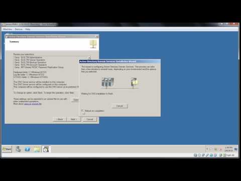 Windows Server 2008: install a RODC (read only domain controller)