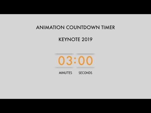 076 3 Minutes Animation Keynote Countdown Timer 2019 Principle Same As Powerpoint Stayhome Withme Youtube