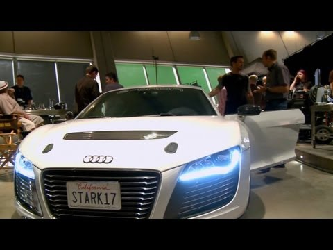 IRON MAN 3 include the Audi R8 e-tron - BEHIND THE SCENES