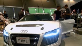 IRON MAN 3 include the Audi R8 e-tron - BEHIND THE SCENES thumbnail