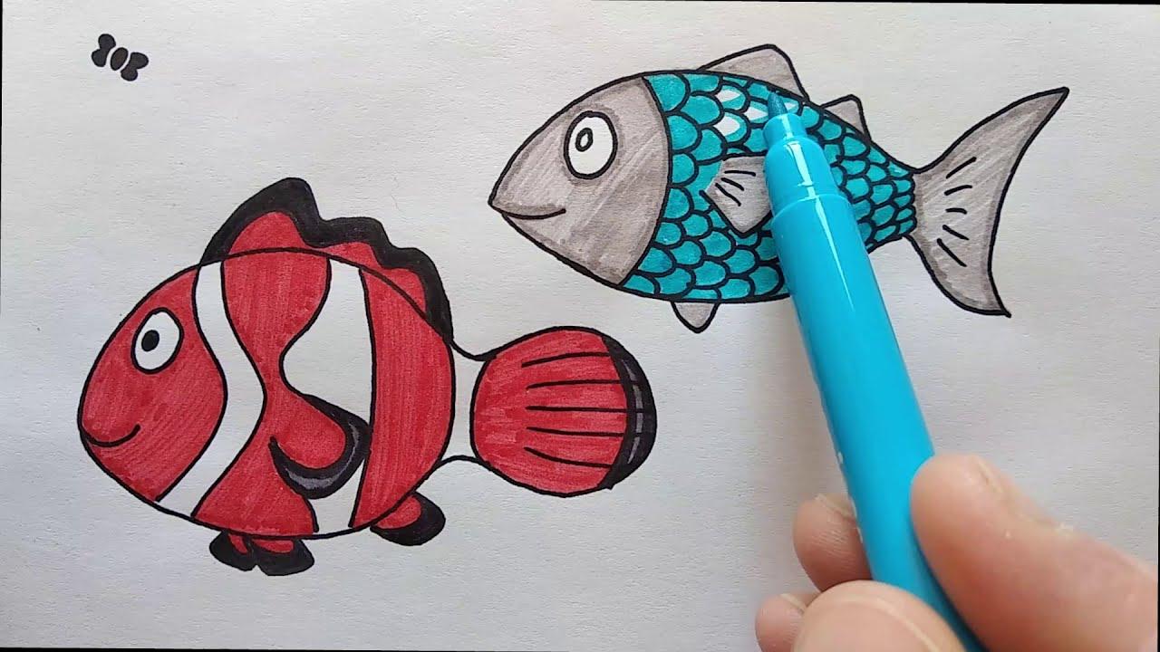sea animals: fish (part 1) - animali marini: pesci (1a