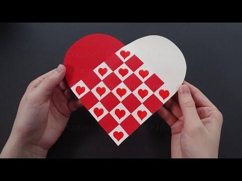 Herz basteln mit Papier ❤ Herzen flechten als DIY Geschenk - Bastelideen