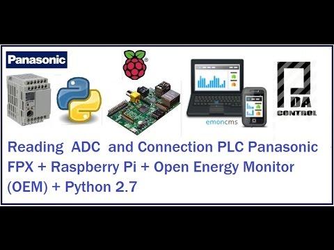 Raspberry Pi + Openenergymonitor + PLC Panasonic With Python