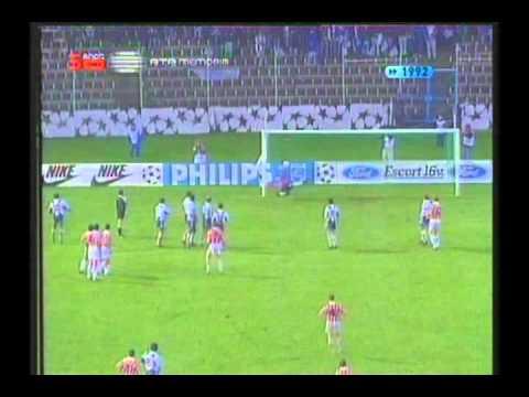 1992 November 25 Porto Portugal 2 PSV Eindhoven Holland 2 Champions League