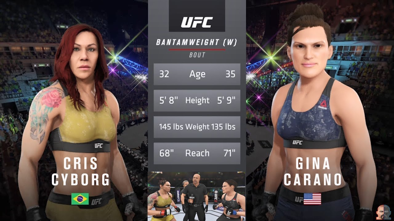 Cris Cyborg Vs Gina Carano | EA Sports UFC 3 - YouTube