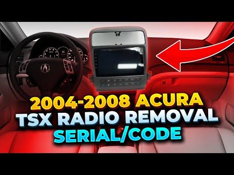 Acura TSX NaviRadio Removal Serialcode YouTube - 2005 acura tsx aftermarket radio