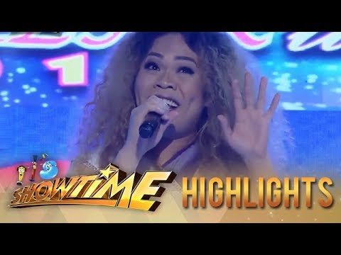 It's Showtime Miss Q & A: Vice And Anne Laugh When Miss Q & A Contestant Impersonates Mariah Carey