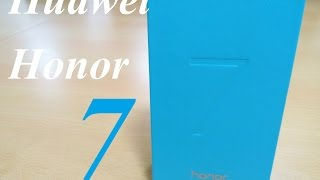 [Hindi - हिन्दी] Huawei Honor 7 Retail Unit Unboxing