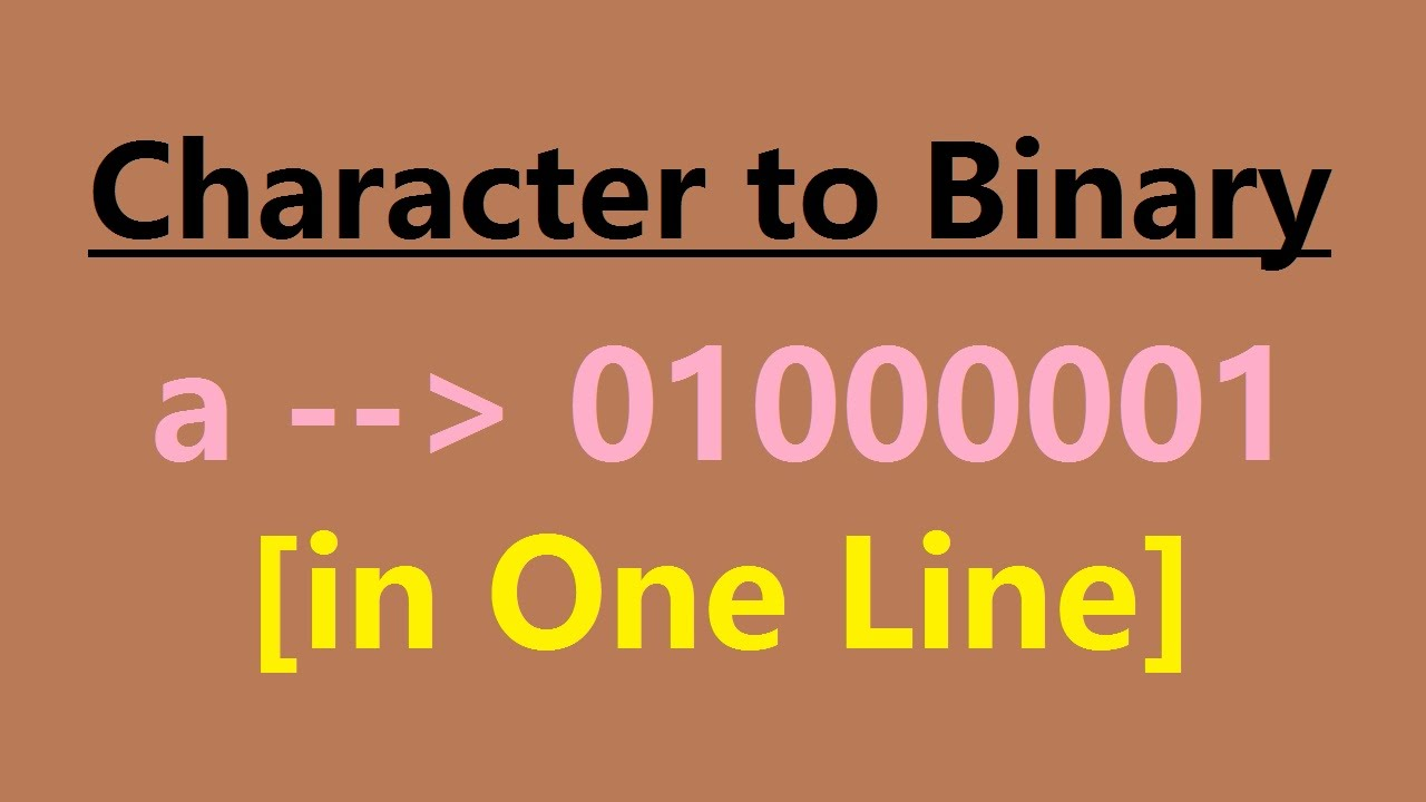 C Program for character to binary conversion using bitwise operator in one  line in Linux