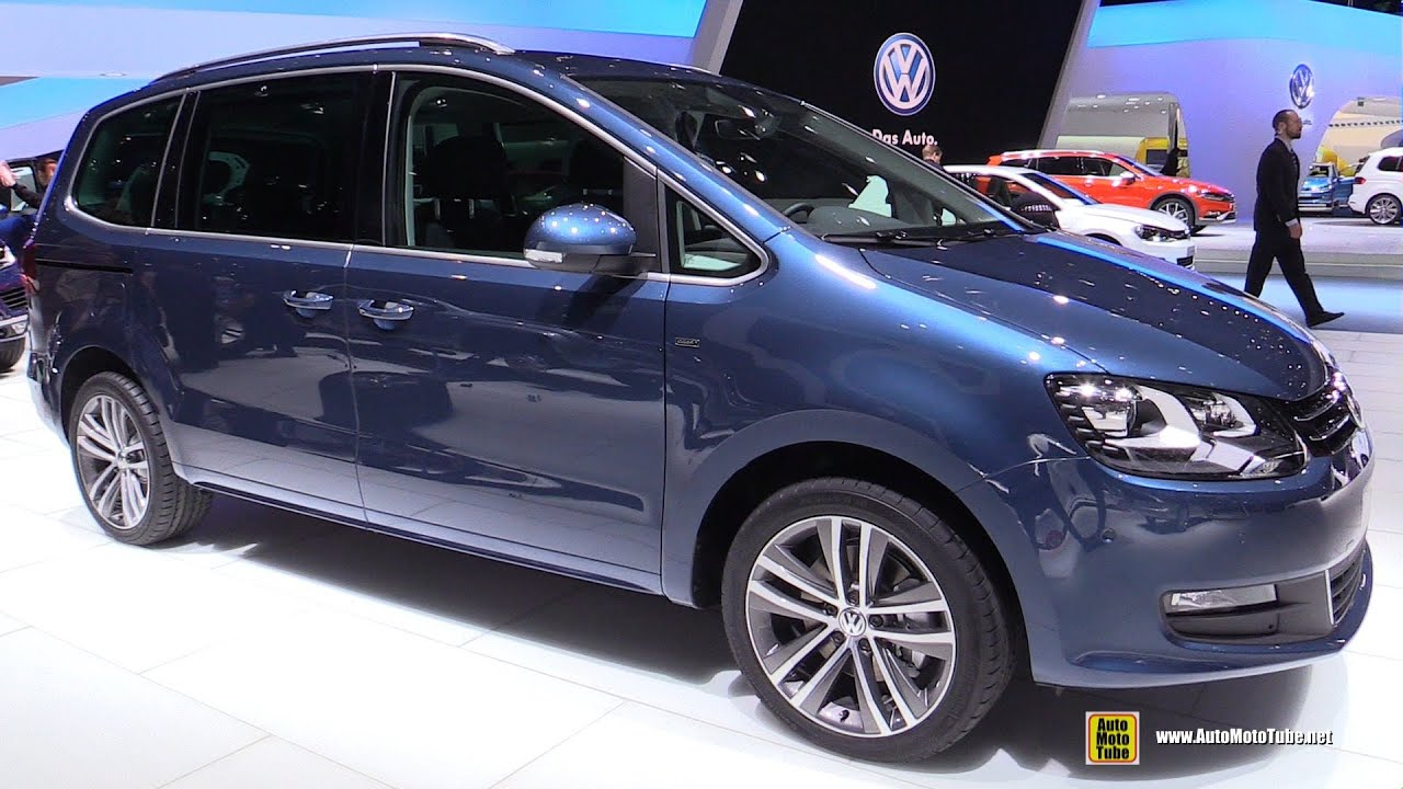 2016 volkswagen sharan tdi exterior and interior walkaround 2015 geneva motor show youtube