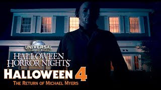 Halloween 4: The Return of Michael Myers House Reveal   Halloween Horror Nights 2018