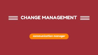 video #42 - COMMUNICATION MANAGER