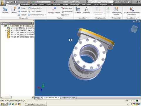 20. Direktintegration Inventor in SAP PLM mit Porta-X: Baugruppe komplett einchecken
