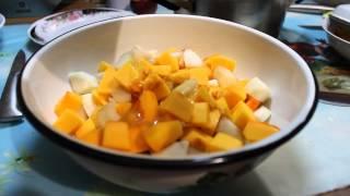 Тыква запеченная с яблоком,грушей и мёдом, рецепт проготовления, здоровое питание
