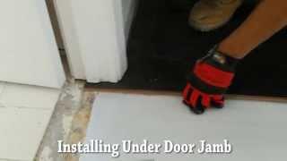 Installing Laminate Wood Flooring Under Cut Door Jamb
