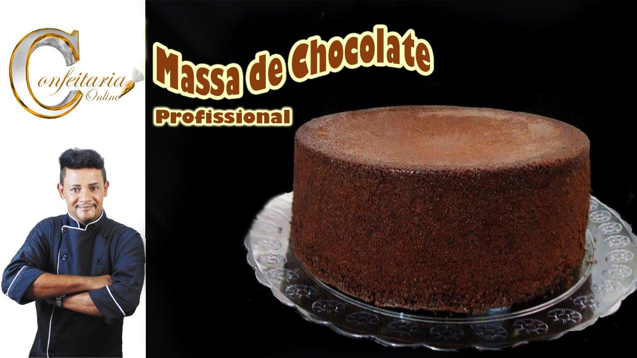 Massa De Bolo Profissional De Chocolate Youtube