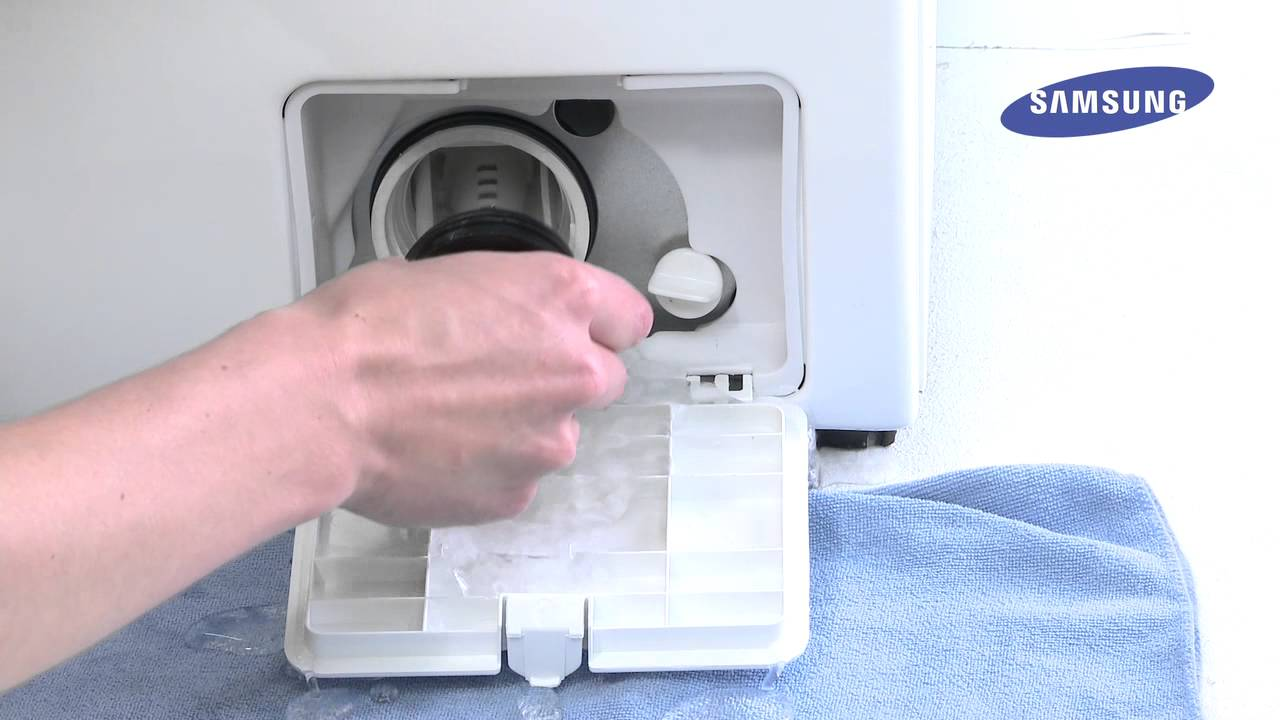 How to video lave linge samsung nettoyer le filtre youtube - Machine a laver le linge moderne ...