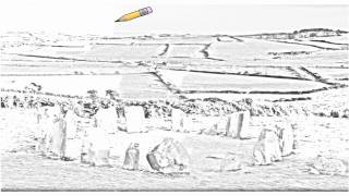 Auto Draw 2: Drombeg Stone Circle, Ireland