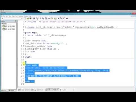 sas proc sql database