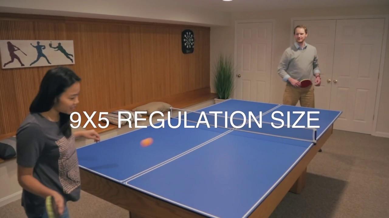 daaf37fc3a1 JOOLA 4-Piece Tetra Table Tennis Conversion Top with Net Set - YouTube