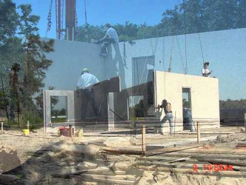 Modular precast systems affordable florida housing youtube for Concrete homes florida