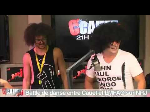 Battle de danse entre Cauet et LMFAO sur NRJ