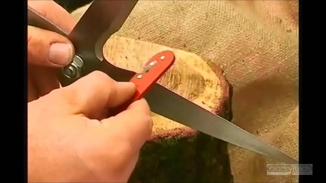 Sharpening Garden Shears and rotary lawn mower blades with a Blade