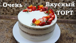 Торт от Кати Очень вкусный торт Торт Маковый торт Бисквитный торт