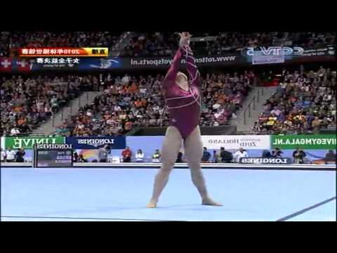World Gymnastic 2010 women all around CCTV part 4 ending